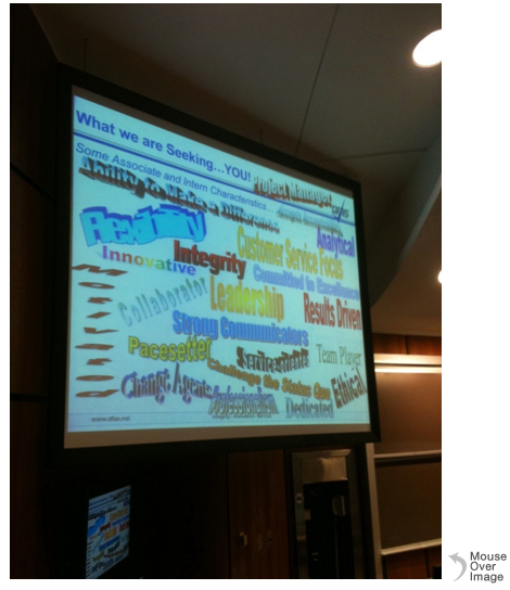 Presentation slide being displayed