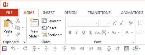 Powerpoint interface