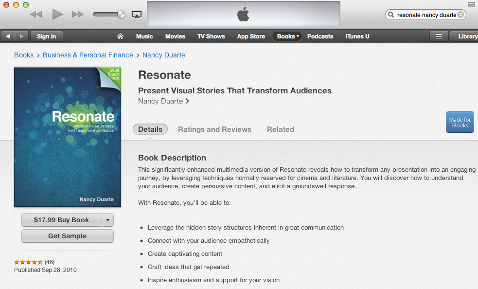 Resonate iBook