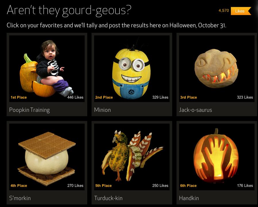 halloween pumpkin contest winners 2013