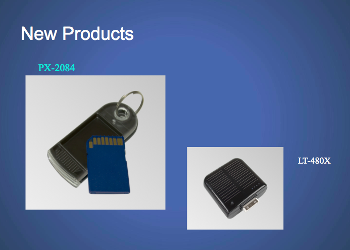 new products on a slide