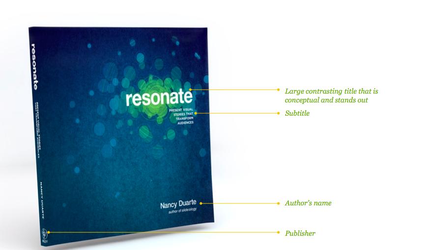 Resonate book cover analysis
