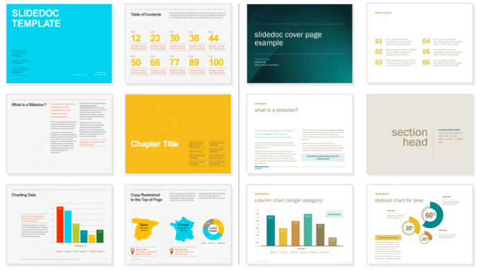 various presentation template designs