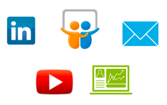 icons for tools to distribute your presentation online