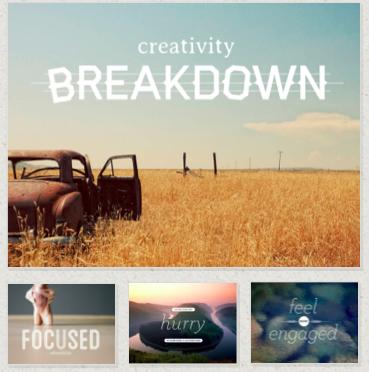 creativity Breakdown slides