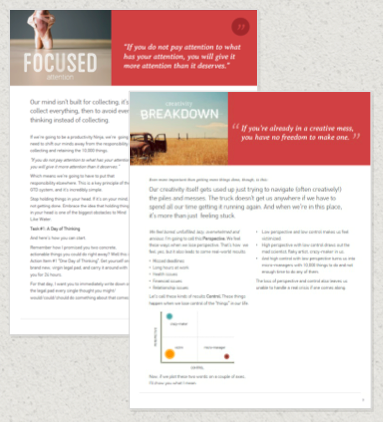examples of visual documents, or slidedocs