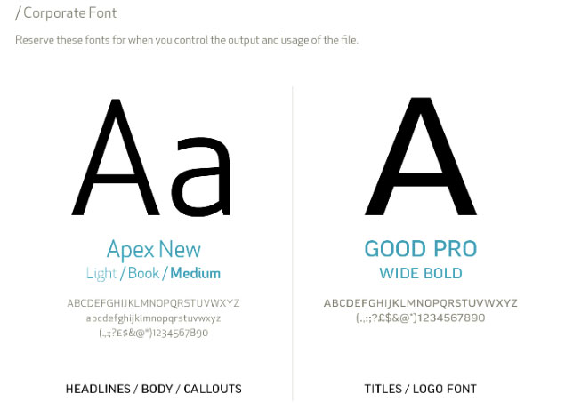 corporate fonts
