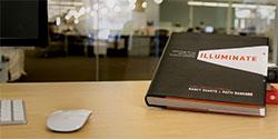 Illuminate book on table
