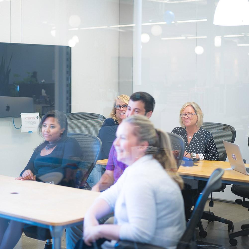 attendees at presentation training workshop