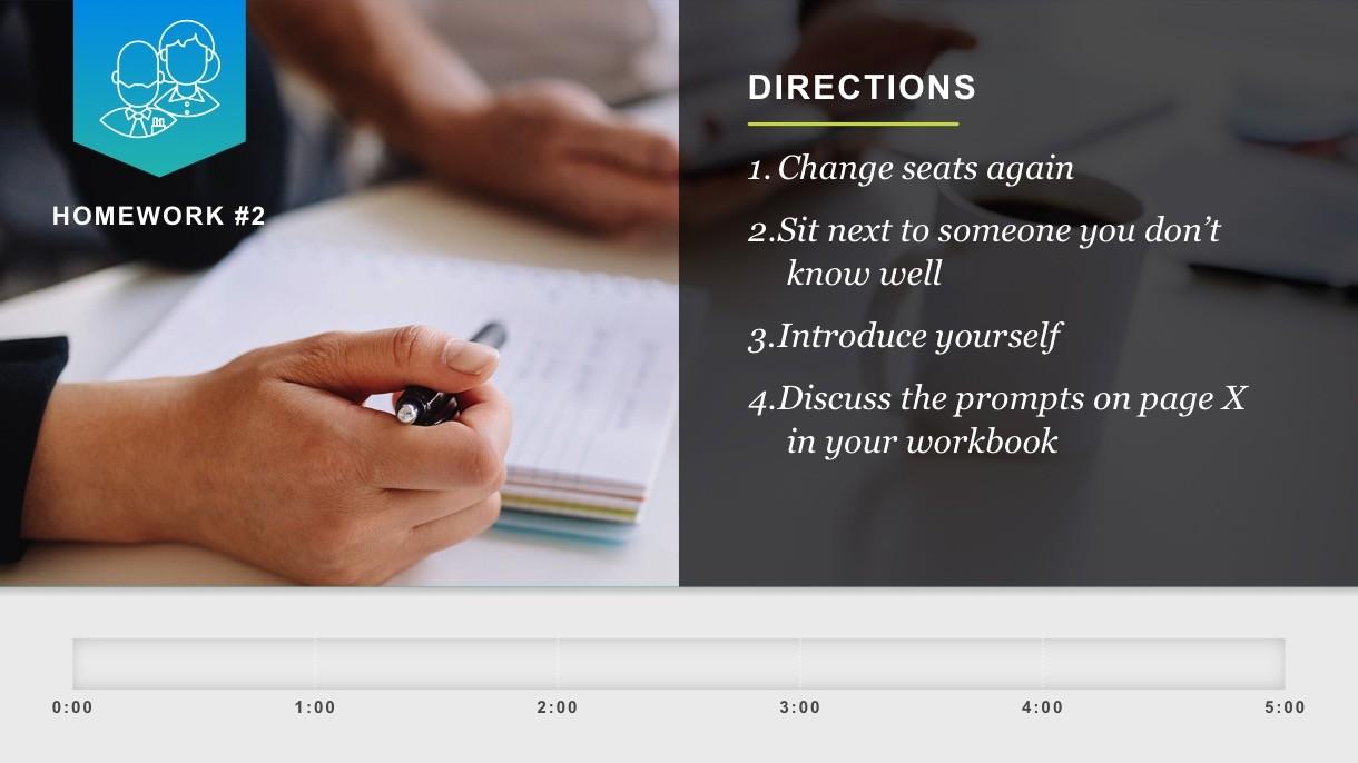 CT3 presentation slide: directions