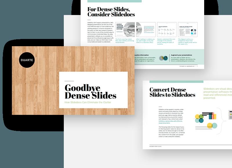 Goodbye Dense Slides presentation