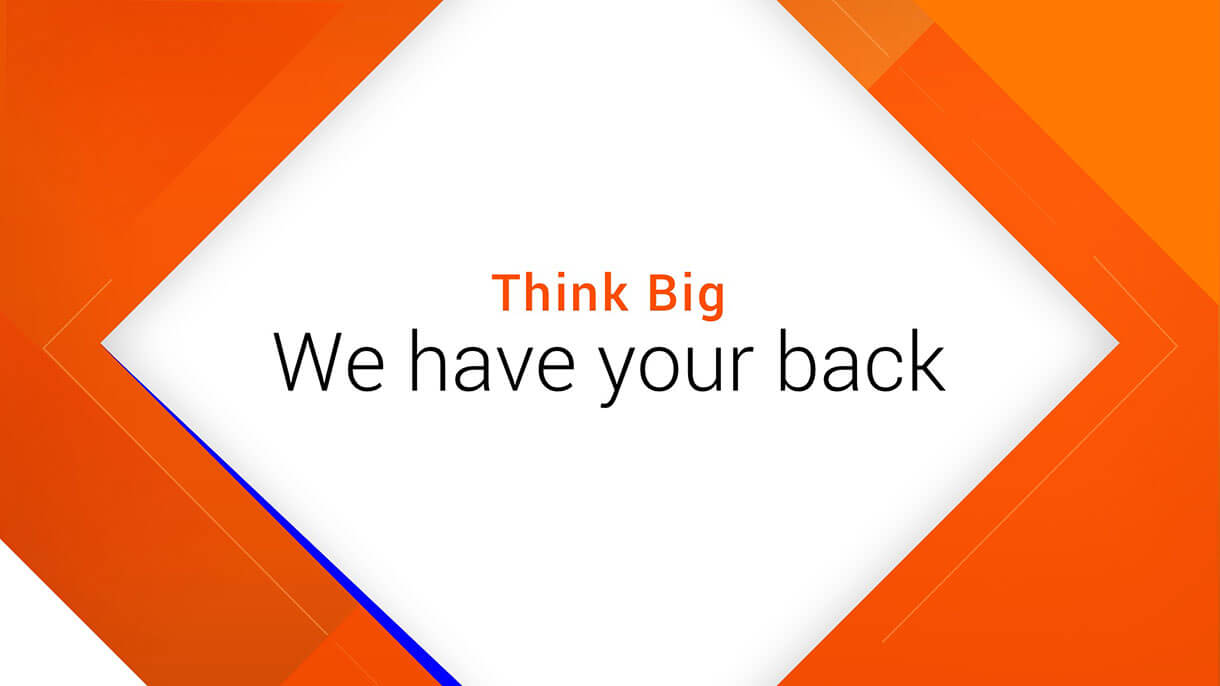 Informatica Slide: Think big. We have your back.
