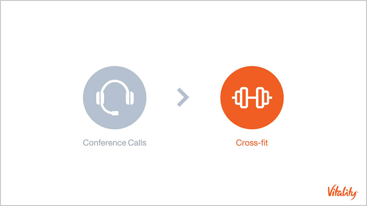 Vitality Slide: conference calls and CrossFit