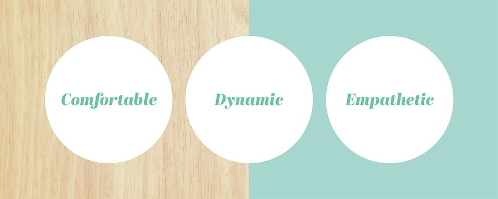 comfortable - dynamic - empathetic circles