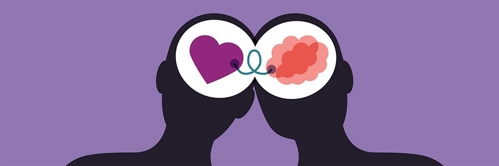 heart connected to the mind graphic - influence and persuade