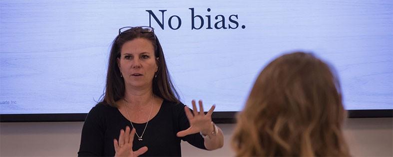 Nancy Duarte presenting