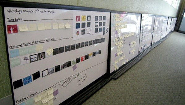 Sticky Notes Galore on white board