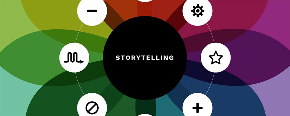 Story techniques in presentations graphic