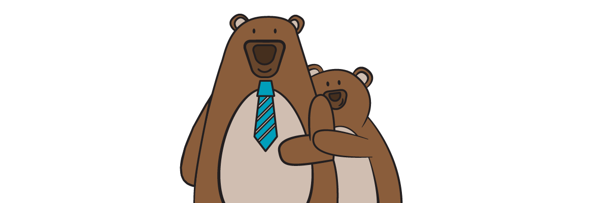 2 cartoon bears